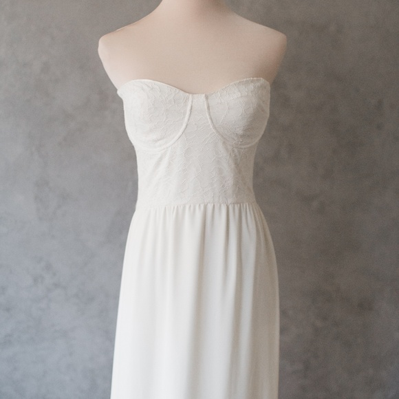 Dresses & Skirts - Ivory Strapless Dress